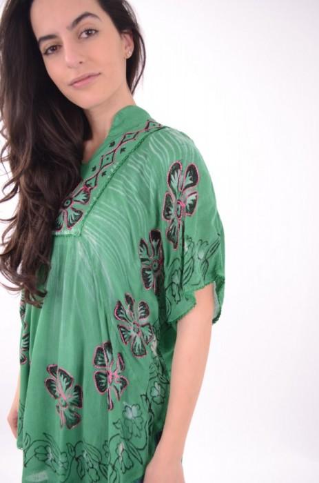 Bluza cu imprimeu colorat, engros
