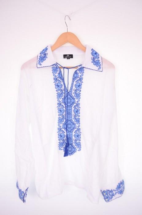Bluza traditionala barbati, cu maneca lunga, broderie colorata