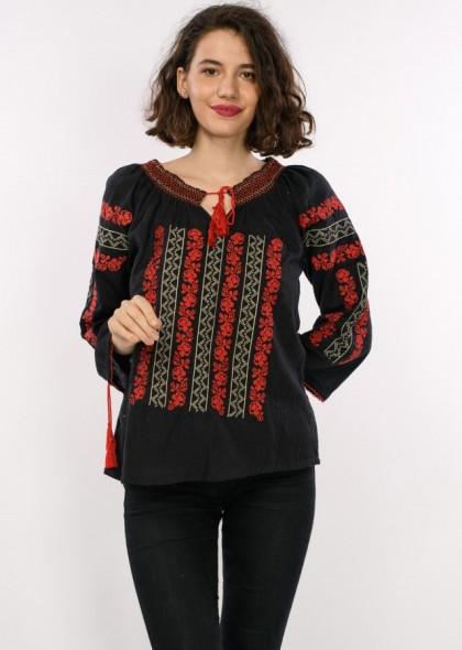 Bluza traditionala de dama, cu broderie, engros