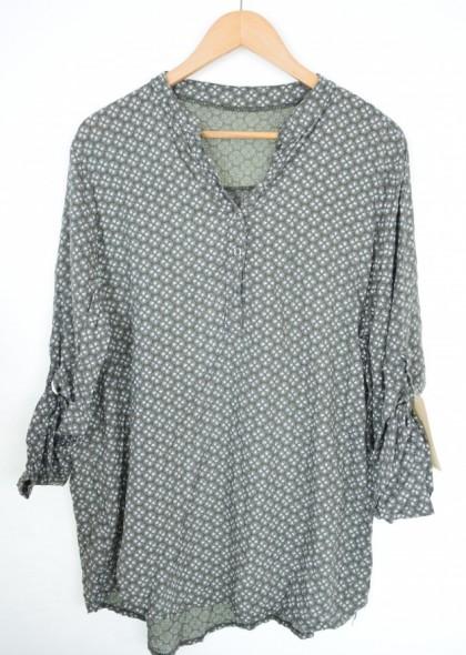 Bluza de dama tip camasa, cu imprimeu, engros
