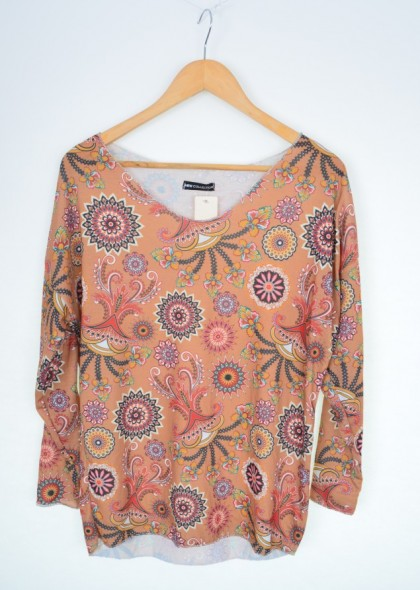 Bluza dama cu imprimeu abstract cercuri, engros