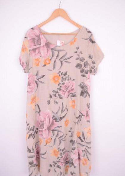 Rochie dublata, cu imprimeu colorat, engros