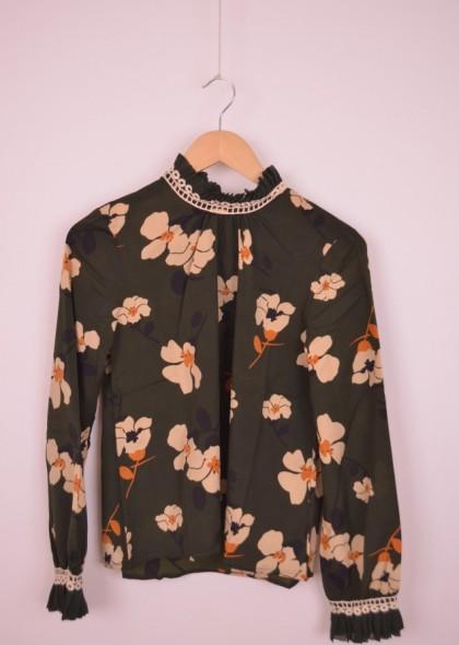 Bluza de dama, cu imprimeu floral, engros