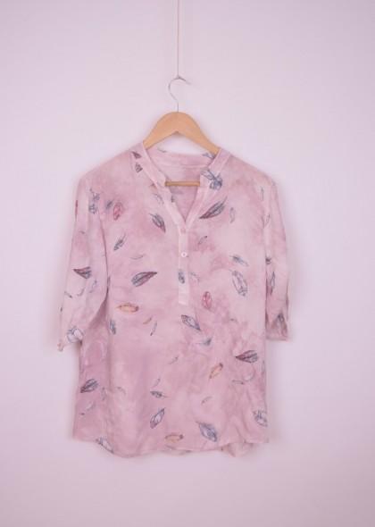 Bluza de dama tip camasa cu imprimeu colorat, engros