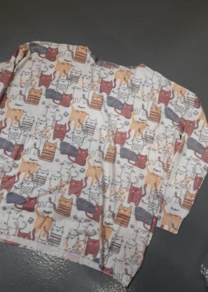 Pulover de dama, colorat cu pisici, engros