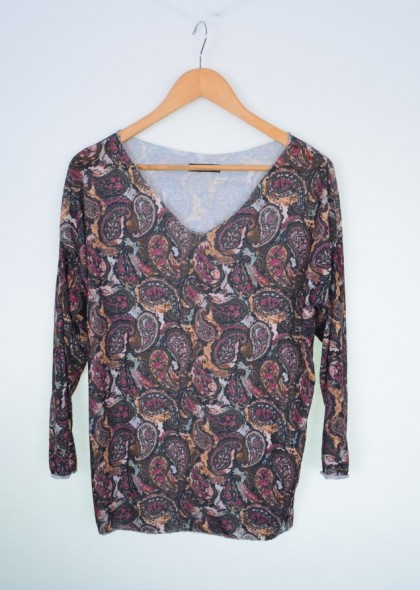 Bluza dama cu imprimeu abstract paisley, engros