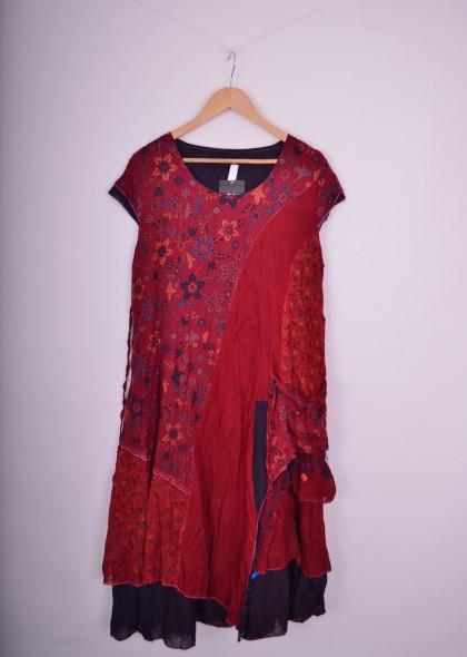 Rochie trendy cu imprimeu colorat, engros