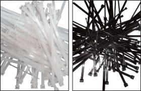 Colier nylon negru 252 x 4,8/pac. 100 buc. UV