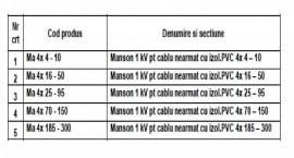 MANSON PENTRU CABLU ARMAT 1kV 4x4-10mmp