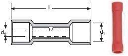 MUFE CUPRU IZOLATE 0.5 - 1.5  MMP -  RED /100 buc