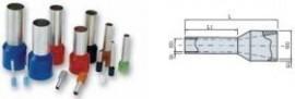 PINI TERMINALI IZOLATI SIMPLI ALBASTRU 0,25/8 mmp - pac 500 buc