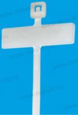 Colier nylon alb cu eticheta (8,4x25,5mm) 200x2,5
