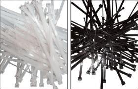 Colier nylon negru 204 x 3,6/pac. 100 buc. UV