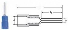 PAPUCI IZOLATI TIP SPADA 1,5 - 2,5/10,5 MMP - BLUE/100 buc