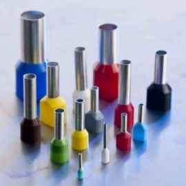 PINI TERMINALI IZOLATI SIMPLI ALB 0,5/8 mmp - pac 500 buc