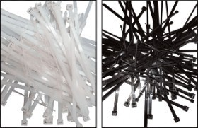Colier nylon negru 102 x 2,5/pac. 100 buc. UV