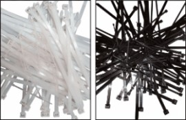 Colier nylon alb 203 x 2,5/pac. 100 buc.