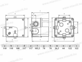 CUTIE PLASTIC ABS 110X110X100 IP67
