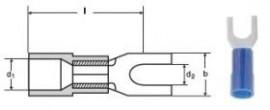 PAPUCI IZOLATI TIP FURCA 0,5-1,5 MMP M3 - RED /100 buc