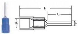 PAPUCI IZOLATI TIP SPADA 0,5 - 1/10,5 MMP - RED/100 buc