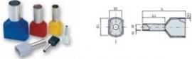 PINI TERMINALI IZOLATI DUBLI NEGRU 2x 1,5/8 mmp - pac 500 buc