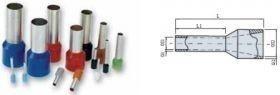 PINI TERMINALI IZOLATI SIMPLI GRI 0,75/8 mmp - pac 100 buc
