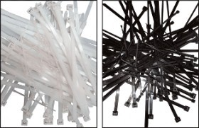 Colier nylon negru 203 x 2,5/pac. 100 buc. UV