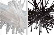 Colier nylon negru 368 x 4,8/pac. 100 buc. UV