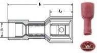 PAPUCI IZOLATI COMPLET TIP AUTO 0,5-1,5/6,3X0.8 - RED /100 buc
