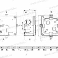CUTIE PLASTIC ABS 110X110X65 IP67