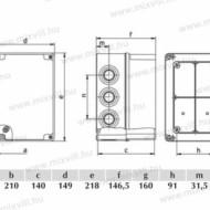 CUTIE PLASTIC ABS 210X140X140 IP67
