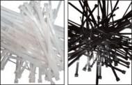 Colier nylon negru 368 x 7,6/pac. 100 buc. UV