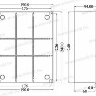 CUTIE PLASTIC ABS 240X190X90 IP56