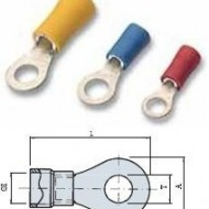 PAPUCI IZOLATI TIP INEL 0.5/1.0 MMP  M3 - RED /100 buc