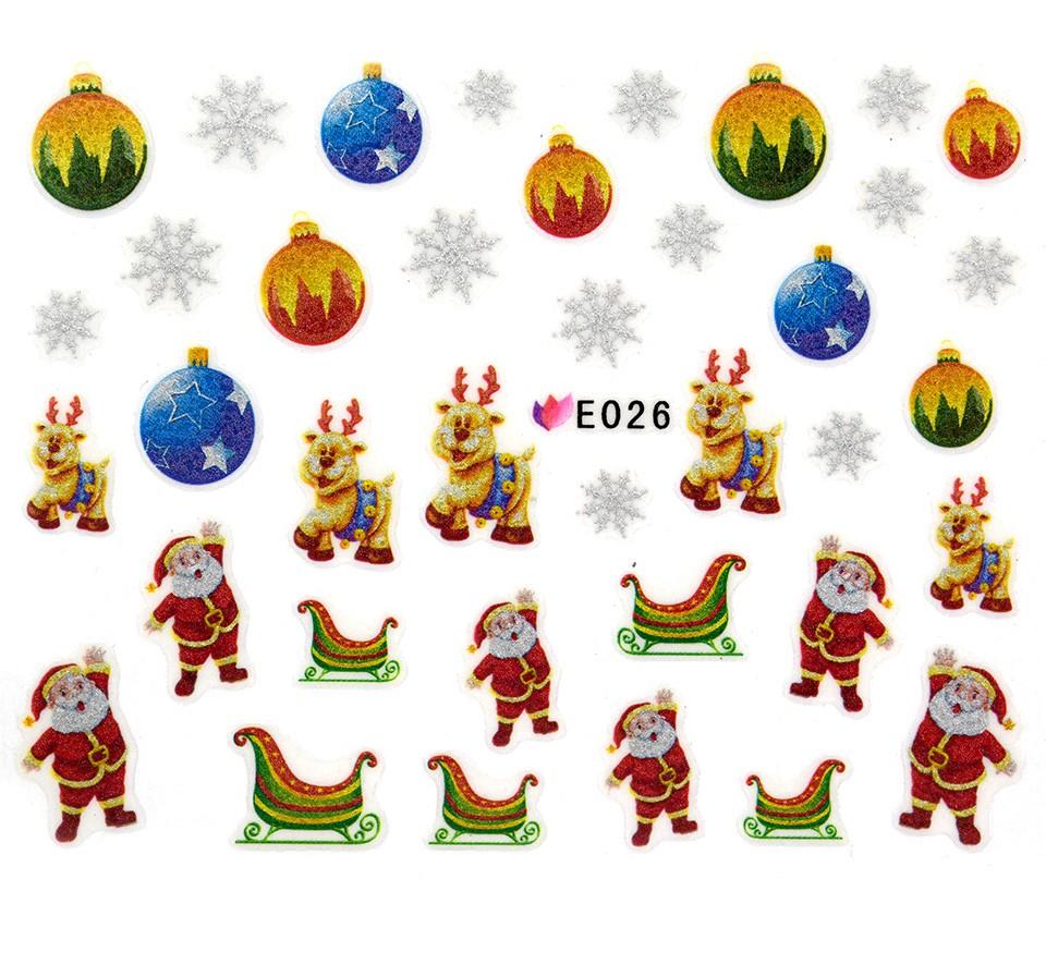 Folie Sticker 3D unghii, model E026 - Creative Gifts