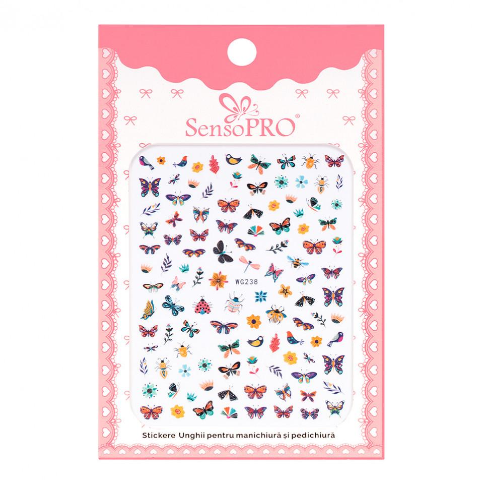 Abtibilduri unghii SensoPRO Magic Butterfly, model WG238 kitunghii.ro