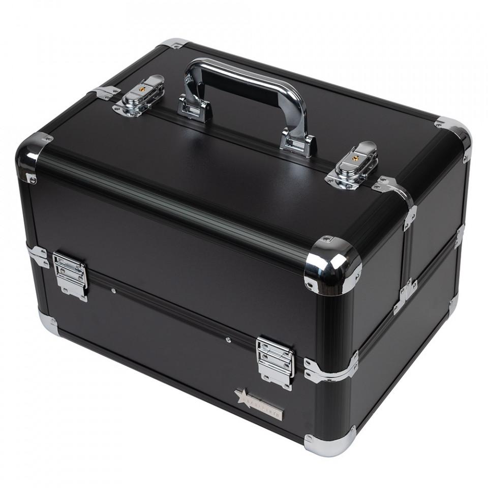 Geanta Produse Cosmetice din aluminium Fraulein38, culoarea Charcoal Black