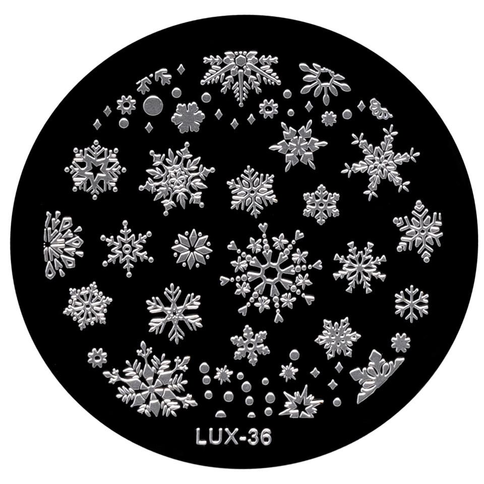 Matrita Metalica Stampila Unghii LUX-36 - Winter's Tale kitunghii.ro