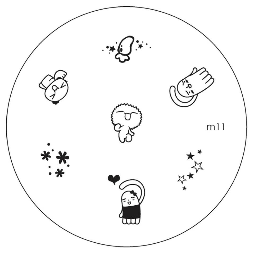 Matrita Metalica Stampila Unghii M11 - Cartoon imagine 2021 kitunghii