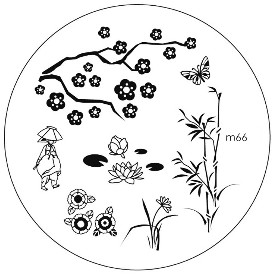Matrita Metalica Stampila Unghii M66 - Nature imagine 2021 kitunghii