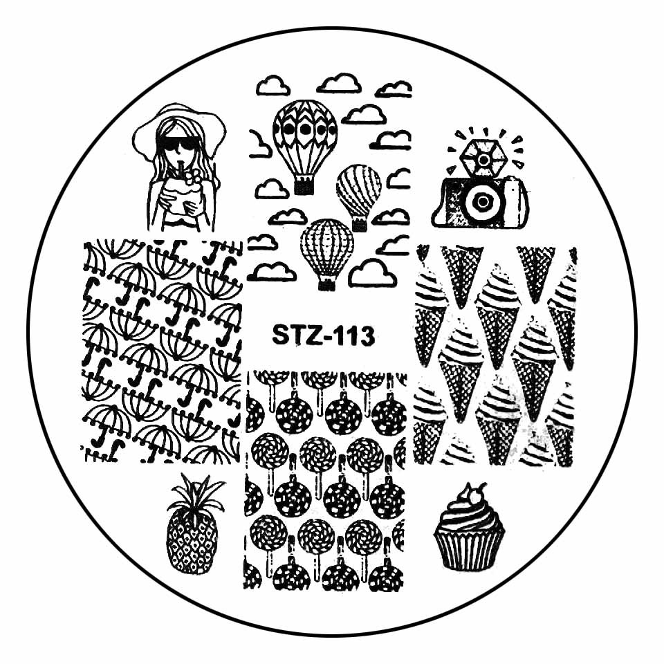 Matrita Metalica Stampila Unghii STZ-113 - Fashion imagine 2021 kitunghii