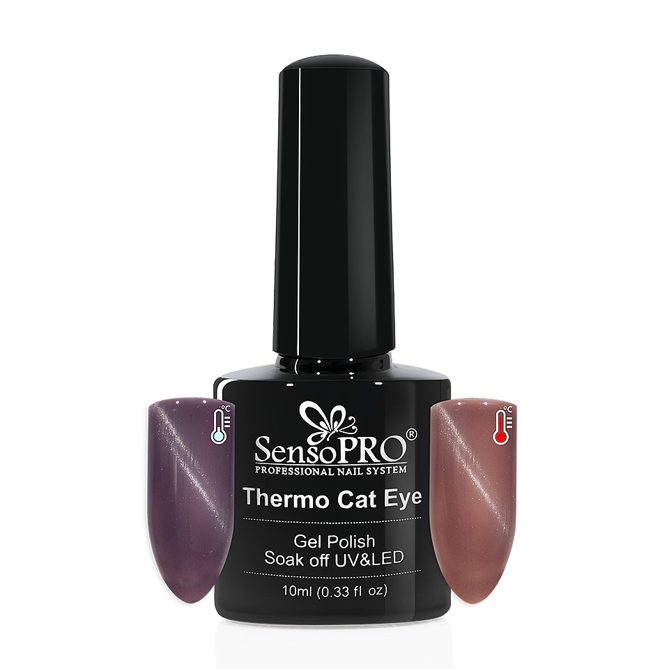 Oja Semipermanenta Thermo Cat Eye SensoPRO 10 ml, #08 imagine 2021 kitunghii