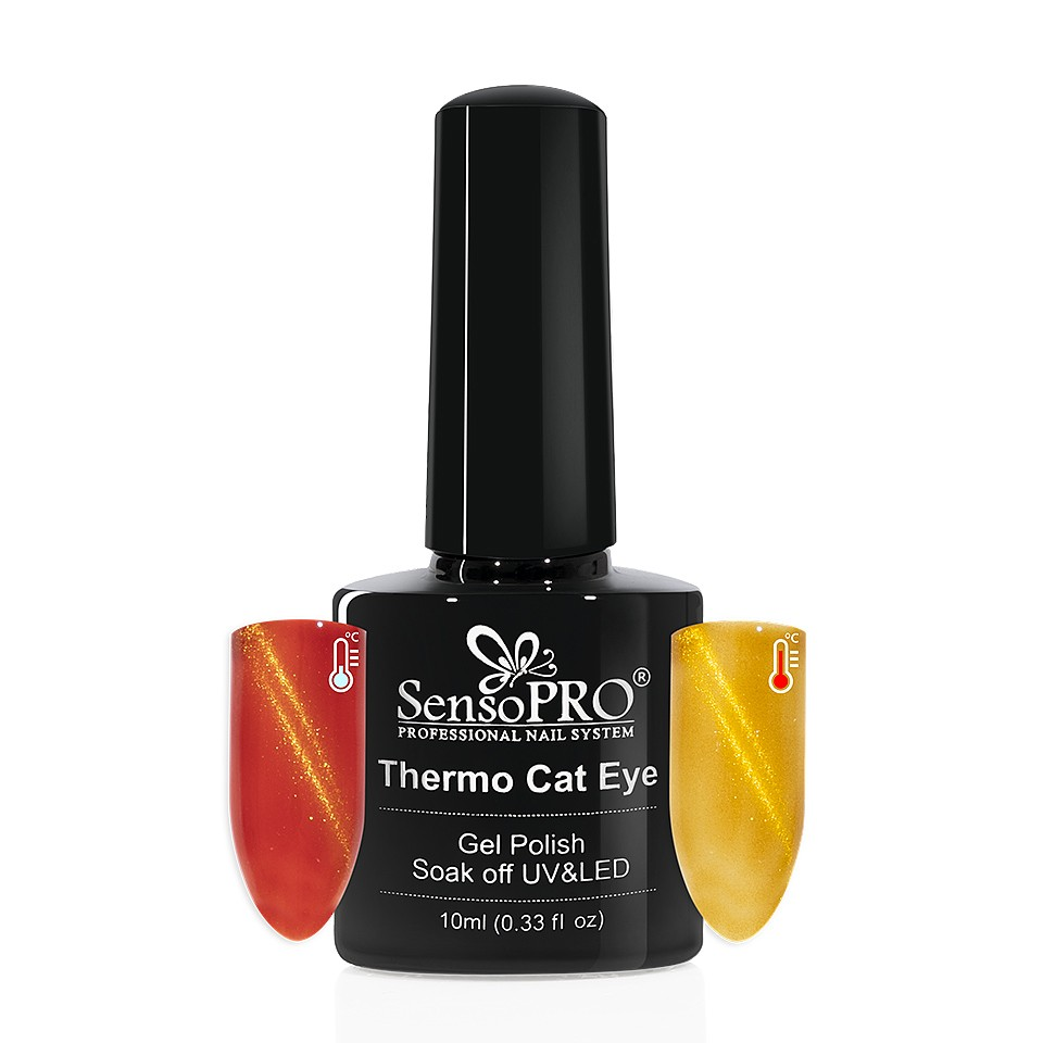 Oja Semipermanenta Thermo Cat Eye SensoPRO 10 ml, #17 imagine 2021 kitunghii