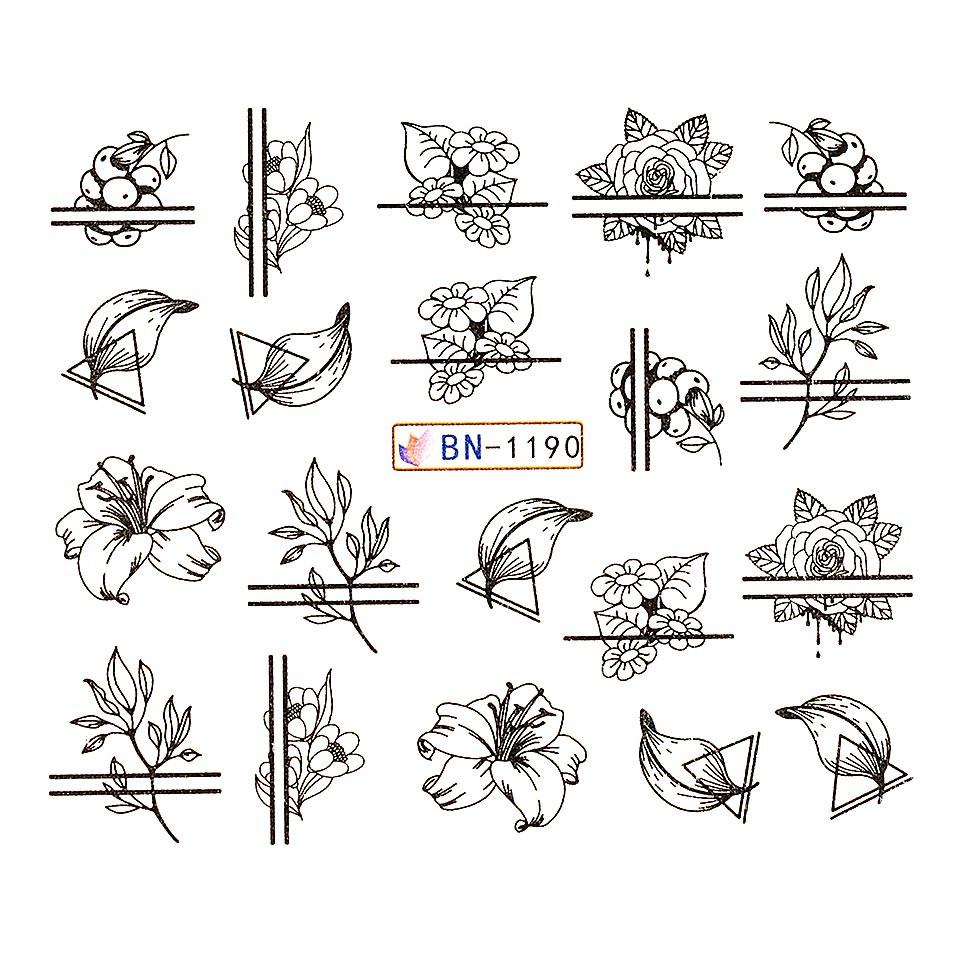 Tatuaj unghii LUXORISE, Fantasy BN-1190 kitunghii.ro