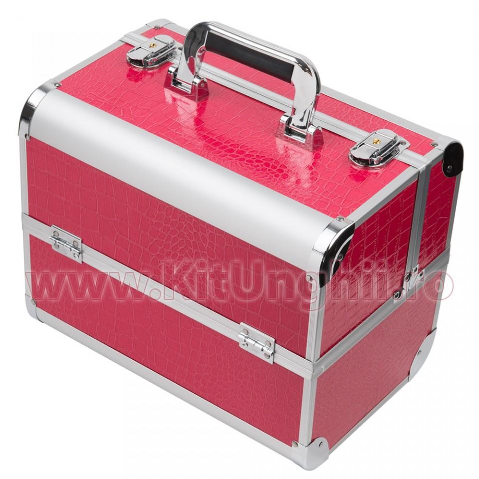 Geanta Produse Cosmetice din aluminiu Fraulein38 Fuchsia Pink