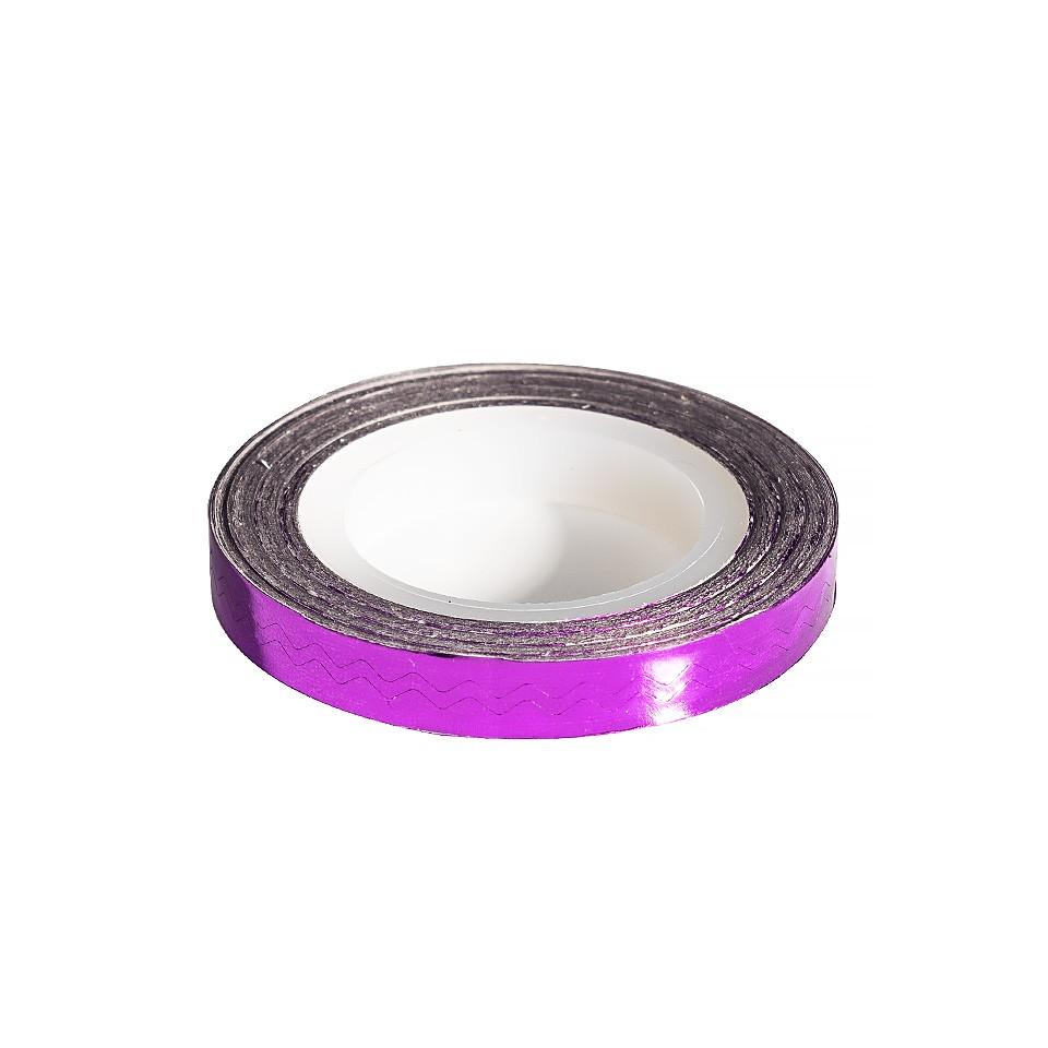 Banda Decor Unghii - Purple Waves Line imagine 2021 kitunghii