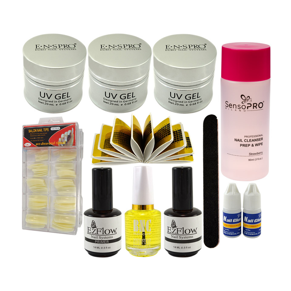 Kit Unghii False cu Gel UV ENS PRO Deluxe - Consumabile Promotie #31 imagine 2021 kitunghii