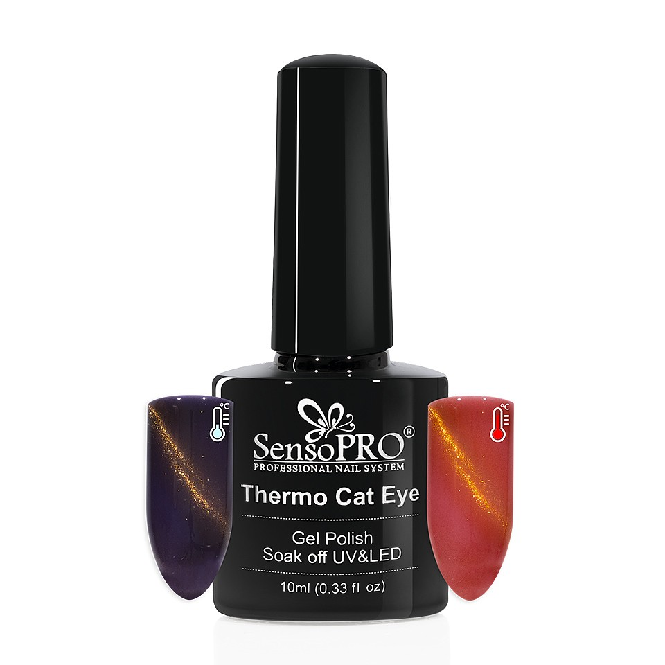 Oja Semipermanenta Thermo Cat Eye SensoPRO 10 ml, #19 imagine 2021 kitunghii