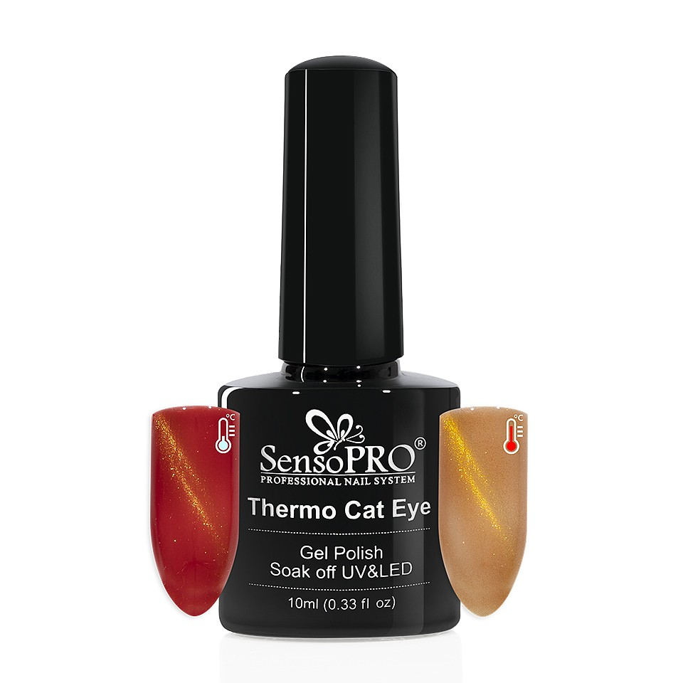 Oja Semipermanenta Thermo Cat Eye SensoPRO 10 ml, #30 imagine 2021 kitunghii