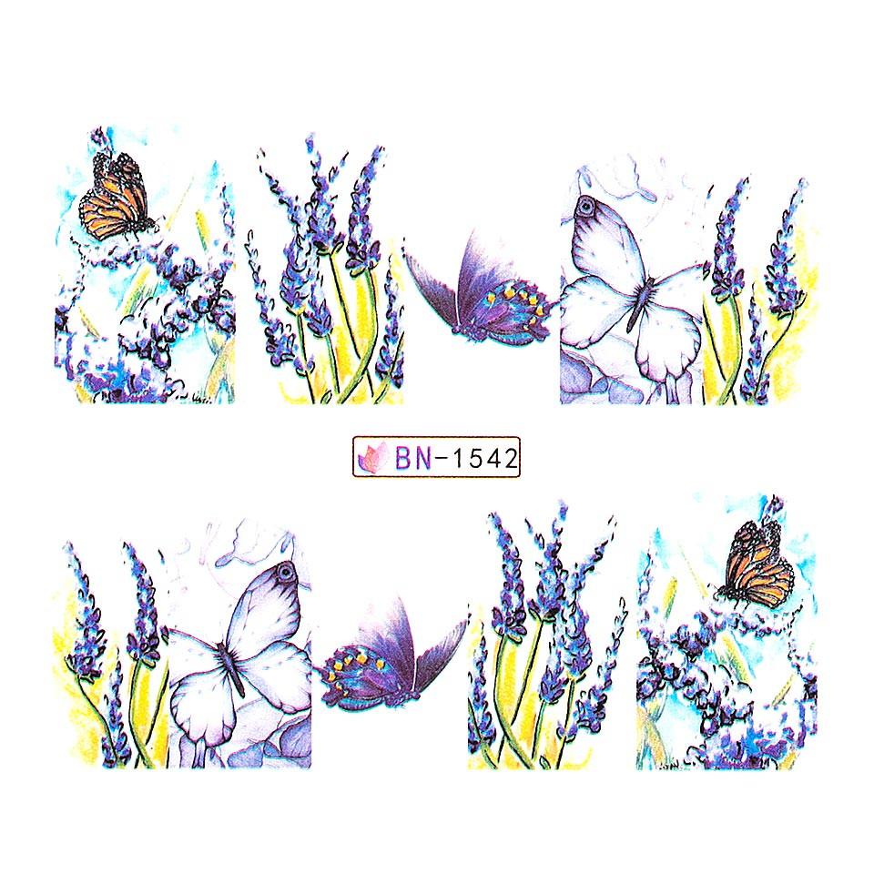 Tatuaj unghii LUXORISE, Butterfly BN-1542 kitunghii.ro